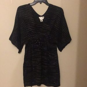Sophie Max Black and Grey Tunic Top Med